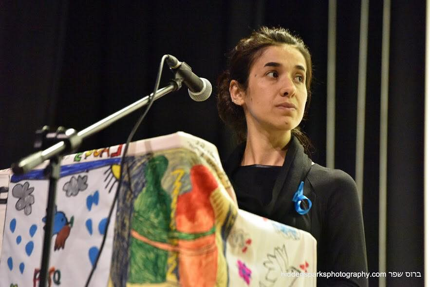 nadia murad in ein hahoresh by bruce shaffer