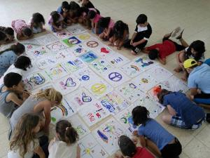 peace quilt children