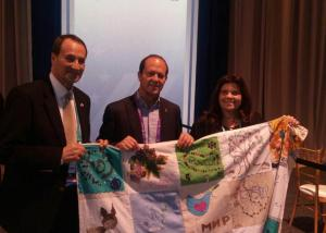 peace quilt in aipac