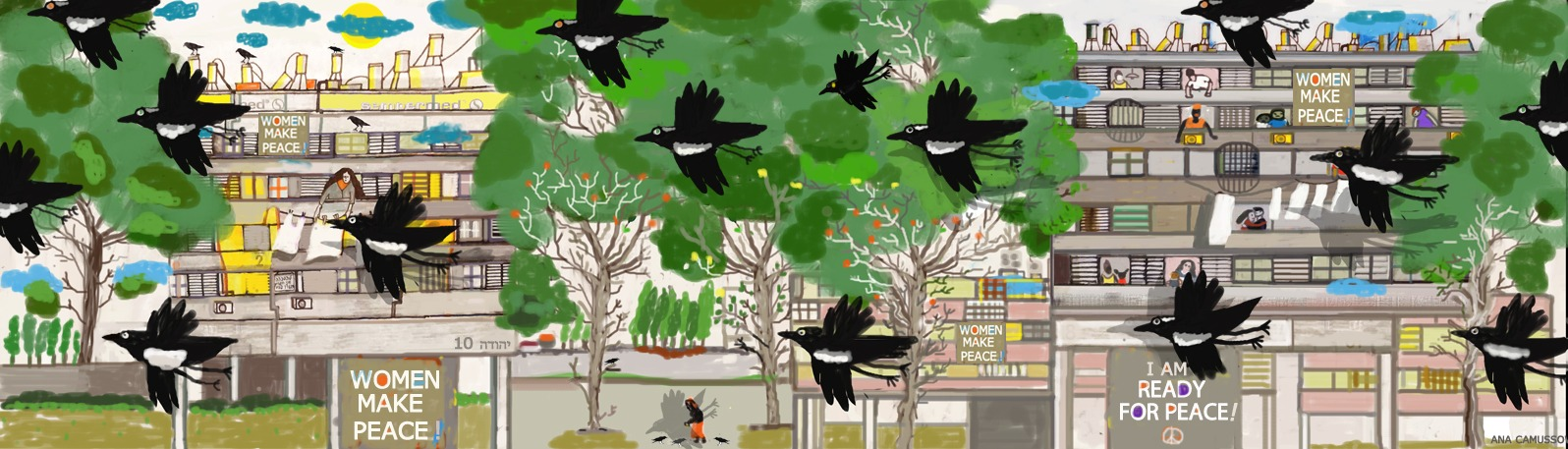 ,Make peace, illustrated by Ana Camusso Wapner