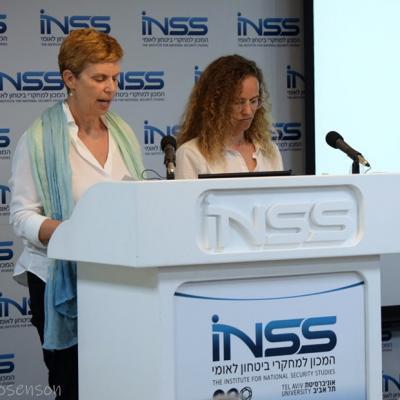יעל אדמי ותמי יקירה, בכנס על חוק החלופות, במרכז למחקרי בטחון לאומי
