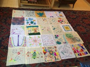 Quilt making in Tekoa