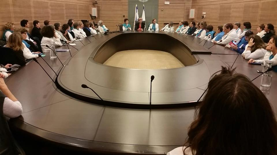 wwp members with MK Shuli Mualem in the knesset